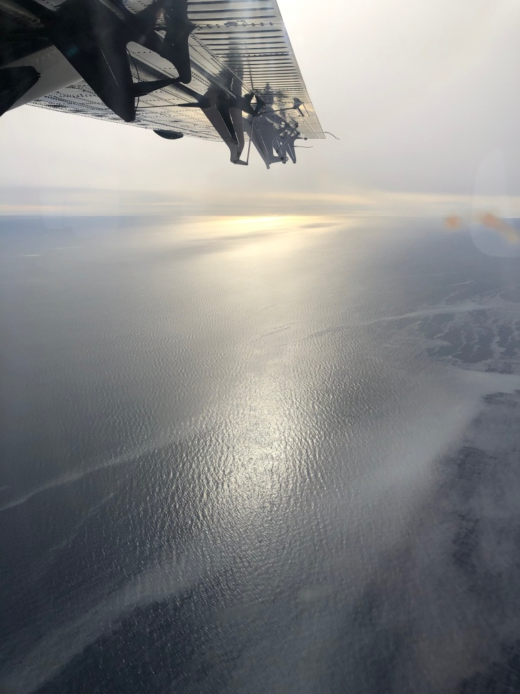 Flying over the Ross Sea