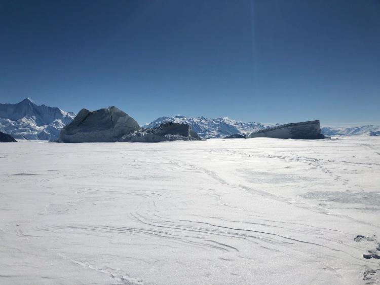 Transantarctic Mountains at Cape Hallett