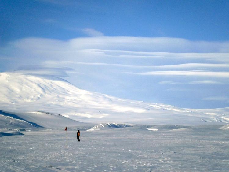 Mt. Erebus and Lenticular Clouds