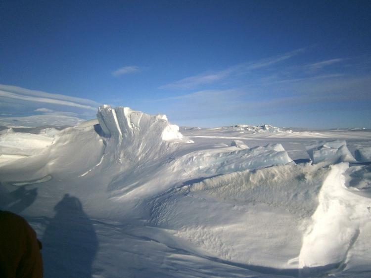 Curved Sea Ice at Pressure Ridge Tour