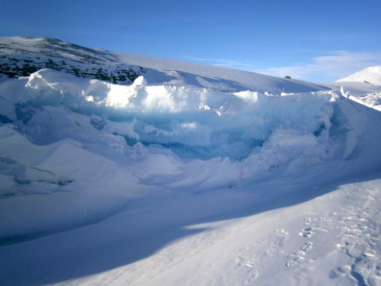 Jagged Sea Ice Wall