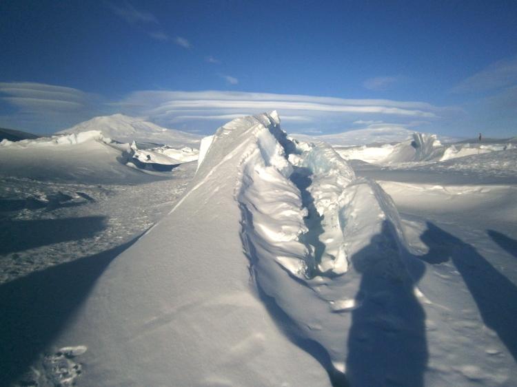 Ice Spiral on Pressure Ridge Tour