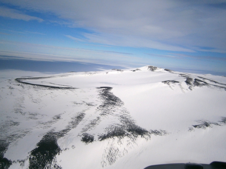 Mountainous tundra near White Island