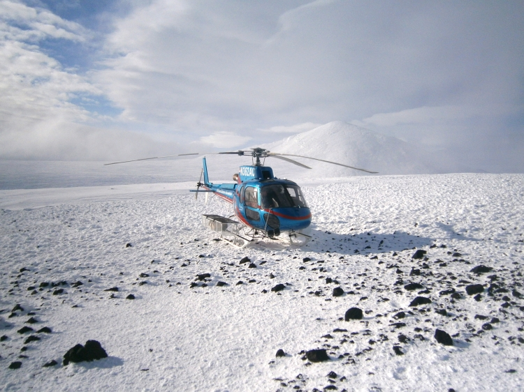 Successful landing at Minna Bluff
